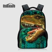 Dispalang Men Laptop Backpack Large Rucksack Dinosaur Animal Print School Bag Travel Backpack High Quality Oxford