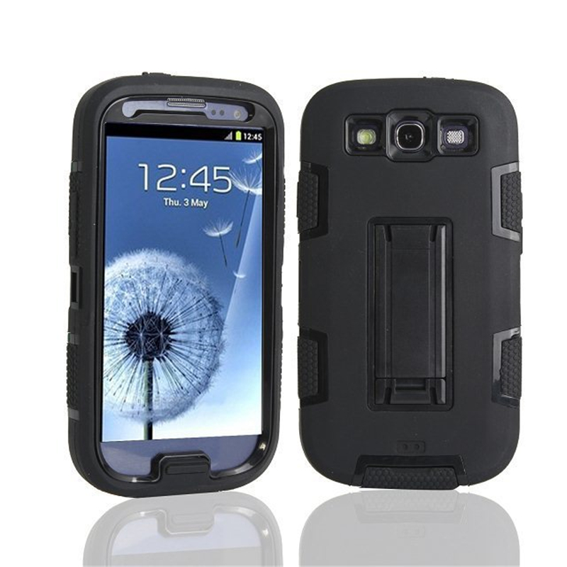 Stand-Cover Hard-Case Defendered Shockproof Heavy-Duty Gt-I9300i Galaxy S3 Samsung