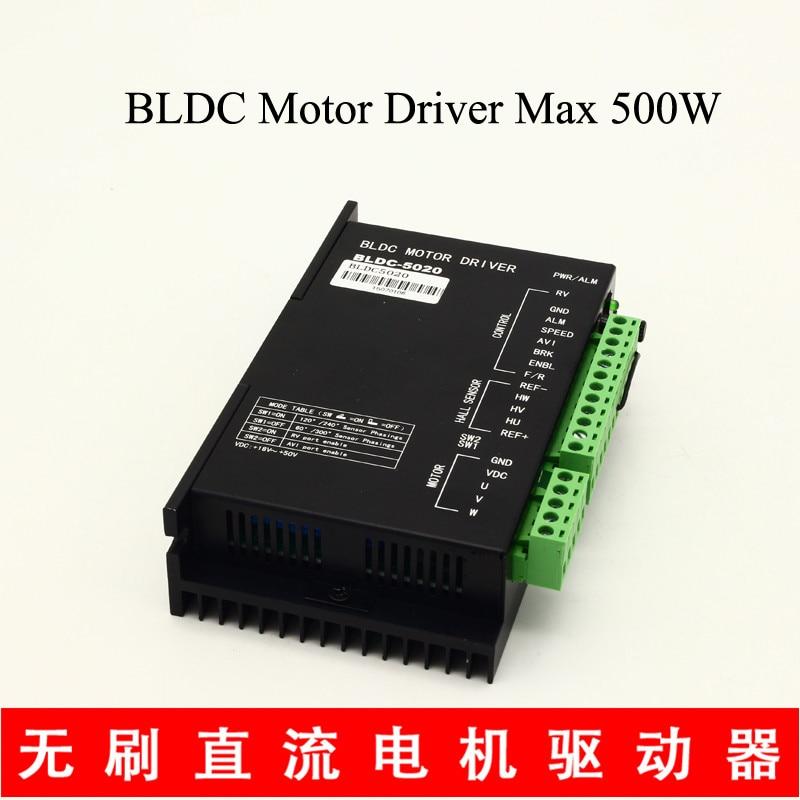 BLDC Motor Driver BLDC-5020 24V 36V 48V Brushless DC Motor 500w Voltage Range 24-50 VDC Speed Regulating