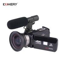 Оригинальная видеокамера KOMERY, поддержка 4 K, Wi-Fi, ночное видение, 3,0 дюймов, сенсорный ЖК-экран, покадровая фотография, три года гарантии