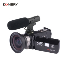 купить KOMERY Original Video Camera 4K Support Wifi Night Vision 3.0 Inch LCD Touch Screen Time-lapse Photography Three-year Warranty недорого