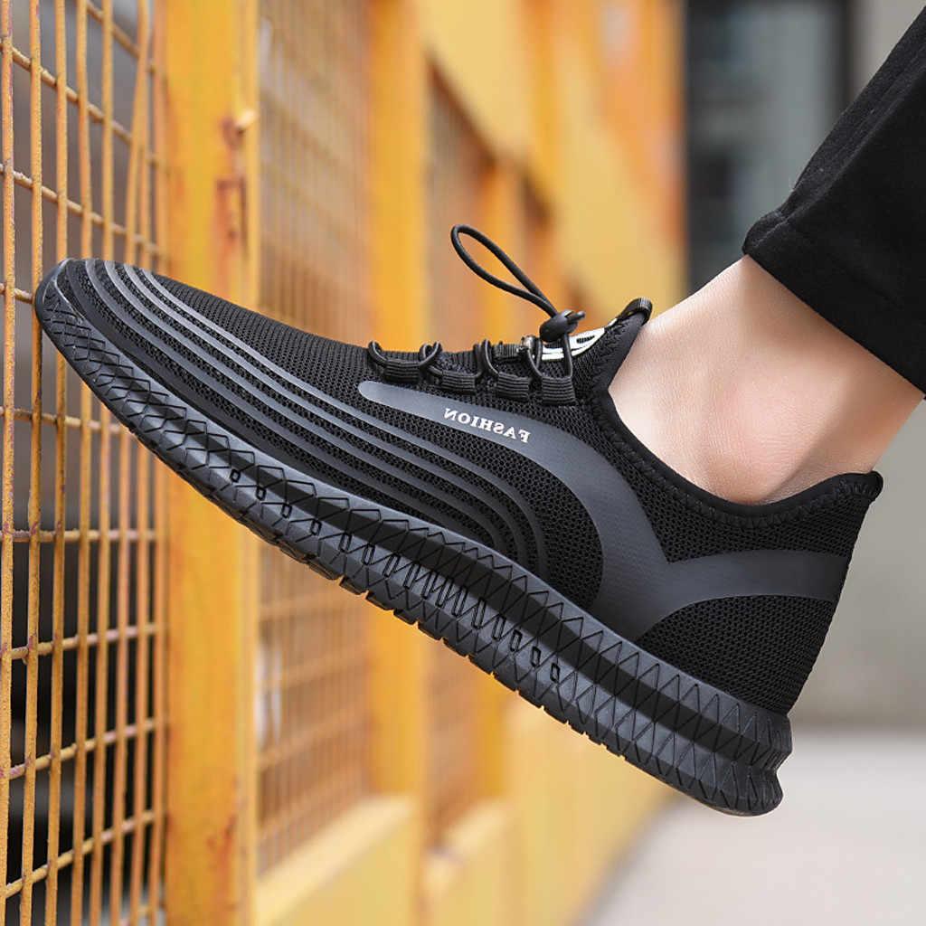 Zapatos casuales de hombre de verano para hombre casual transpirable al aire libre de malla para correr zapatos de punto voladores zapatillas de deporte Zapatos casuales hombres dropshipping