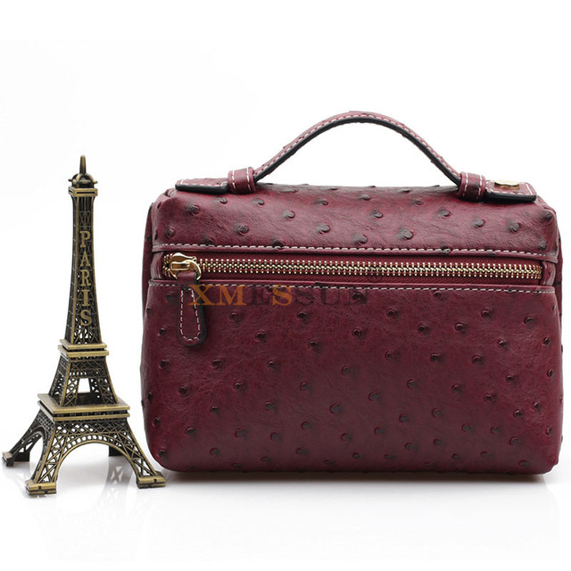 Embossed Ostrich Leather...
