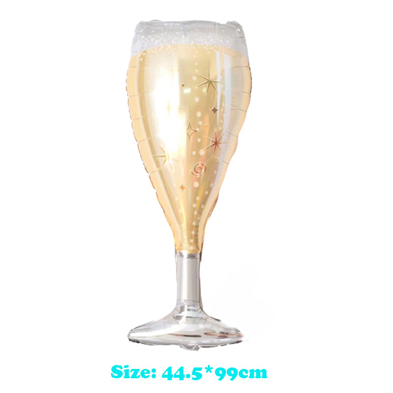New Large Champagne Glass Foil Balloons Whisky Bottle Beer Globos