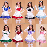 Lolita Princess Apron Dress Maid Outfits Meidofuku Uniform Cosplay Costume S XXL