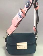 Super cute matte leather buckle mini shoulder bag,flower rivet wide shoulder strap brand diagonal bag,women lady girl bags