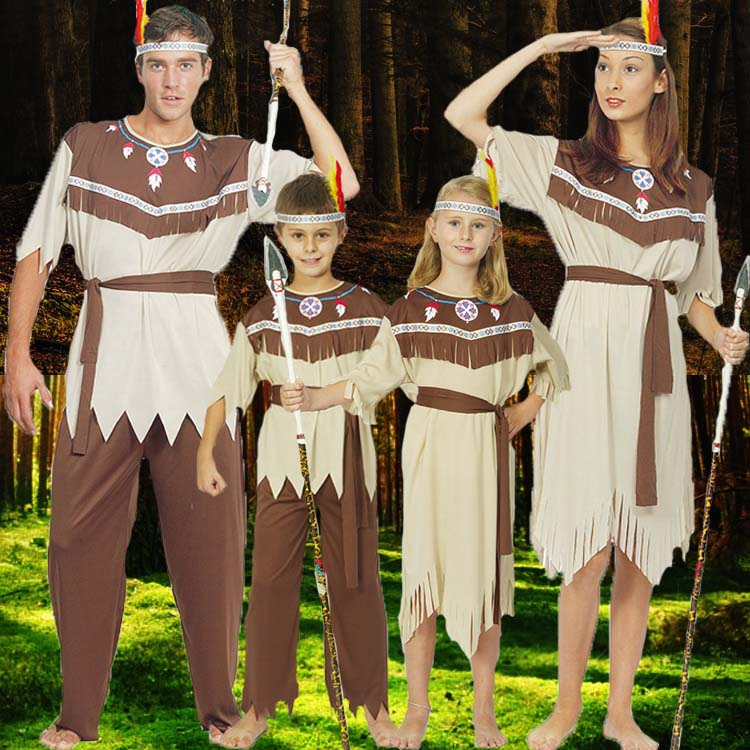 bab6a1628e9 US $25.29 |Kids Halloween Costume Adults New Arrival Costume Savages Adult  Indian Costumes Aboriginal People Children's Day Clothes B 5158-in Anime ...