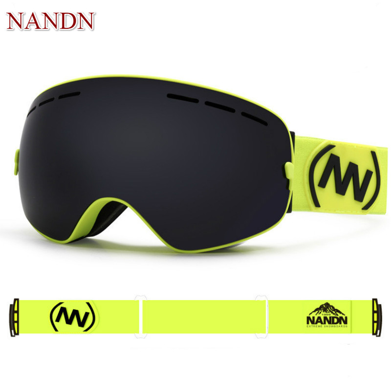 NANDN Professional Ski Goggles Replaceable Lenses UV400 Anti fog Skiing Eyewear Ski Mask Skiing Men Women Snow Snowboard Goggles-in Skiing Eyewear from Sports & Entertainment    2