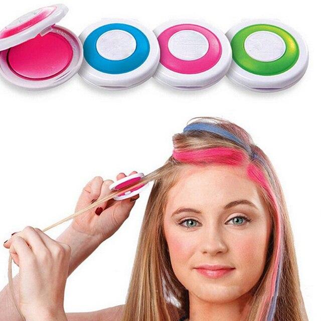 4 צבעים שיער צבע שיער גיר אבקת אירופאי זמני פסטל צבע לשיער צבע צבע רך פסטל סלון