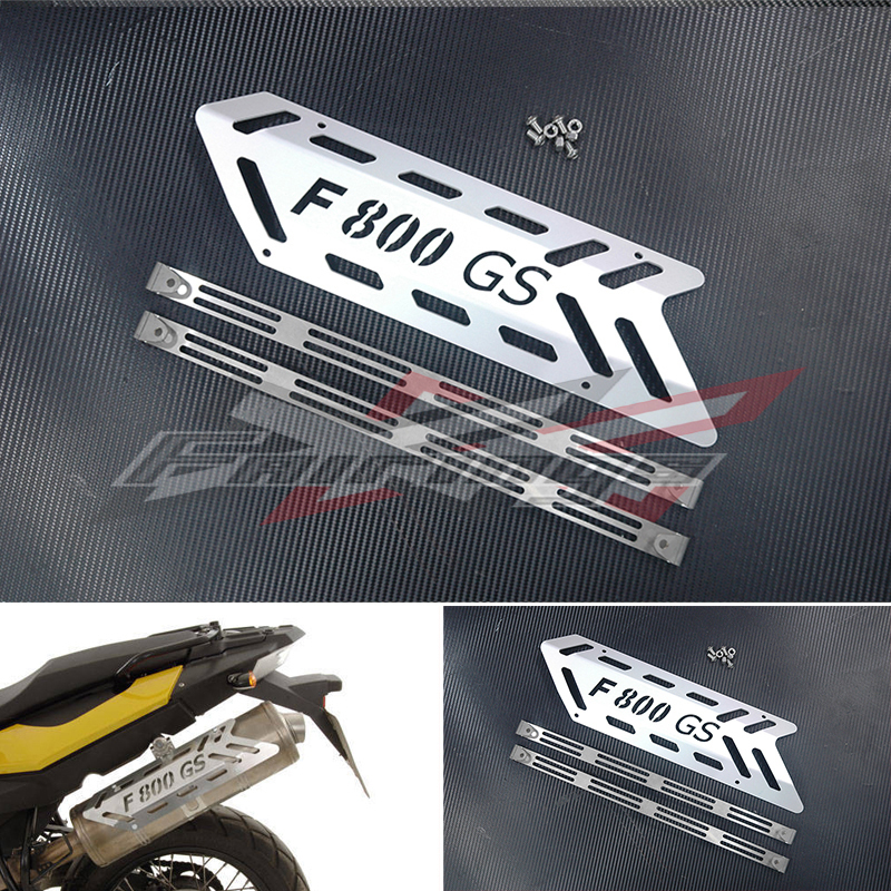 Rear muffler shield Cover Aluminium Fit for BMW F800GS/ADV 2008 On car rear trunk security shield cargo cover for volkswagen vw tiguan 2016 2017 2018 high qualit black beige auto accessories