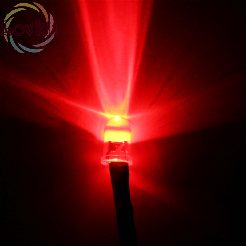 20pcs 5MM Pre-Wired LED 12v Resistor Red Bright Emitting Diode Round Top 12V DC 20CM Pre Wired Led Diodes Car Lamp DIY Hot SALE