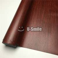 Teak Wooden Grain Vinyl Wrap Film For Wall Furniture Car Interior Size 1 24X50m Roll 4ftX165ft
