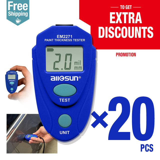 20pcs/lot Digital Coating Thickness Car Painting Meter paint thickness meter EM2271 all-sun