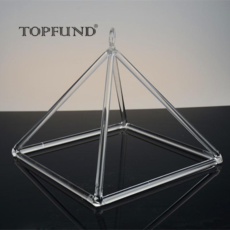 TOPFUND Clear Quartz Crystal Singing Pyramid 8'' - Perfect Healing Musical Instrument стоимость