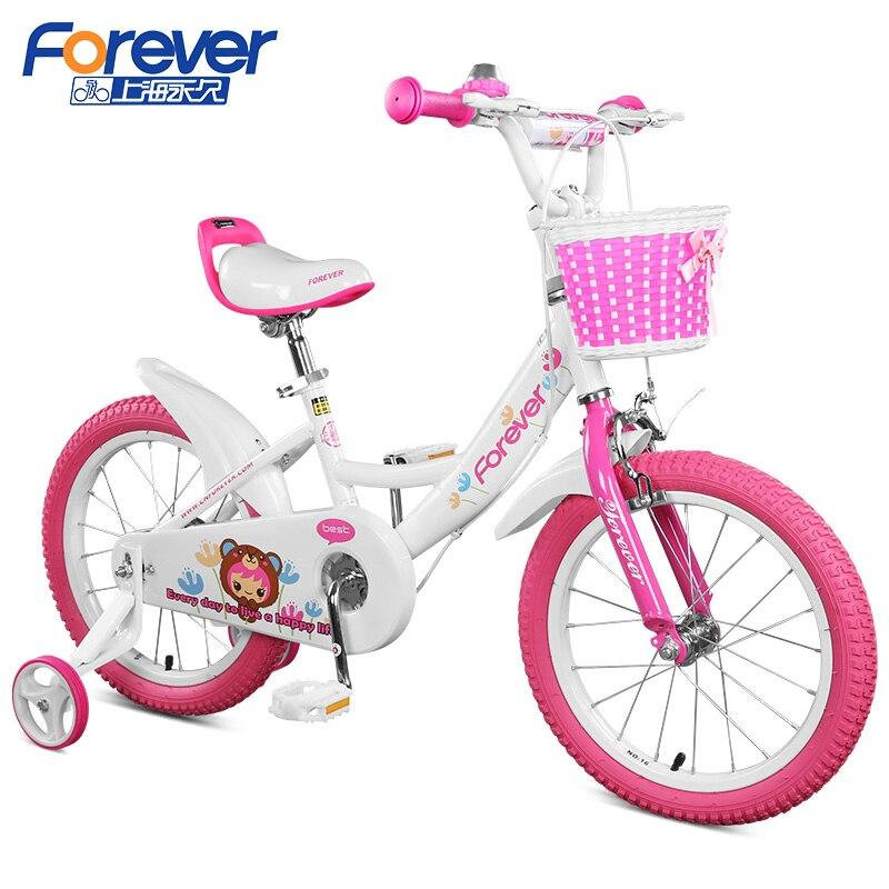 Лидер продаж 14 дюймов От 3 до 6 лет детская велосипед розовый/синий Велоспорт Спортивная игрушка автомобиля детский велосипед