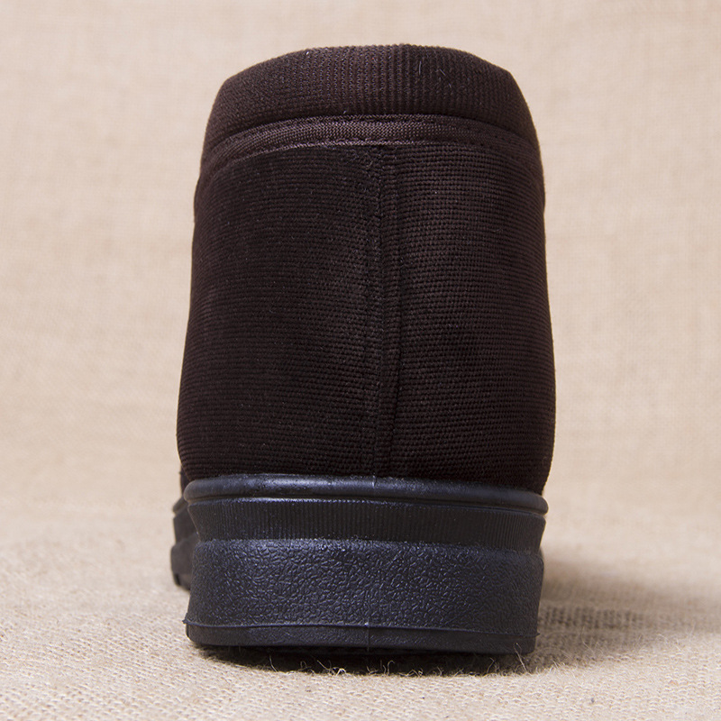 Hiver Coton Cheville brown Hombre Male Black Bottes Botas Antidérapantes Troupeau Mocassins Hommes Chaussures Neige Haut Fourrure Chaudes Casual RqrxfnwRU