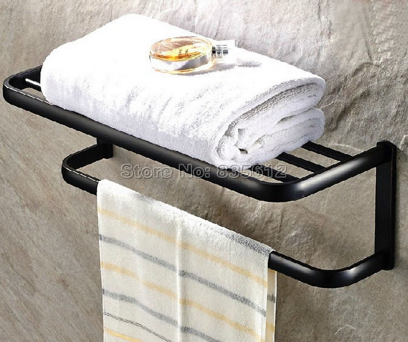 Black Oil Rubbed Brass Brief Wall Mounted Bathroom Clothes Towel Racks Shelf Wba190 наволочка флаг сша