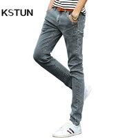 New 2016 Summer Autumn Men Jeans Haren Buttons Buckles Slim Fit Broken Man Biker Man Jeans