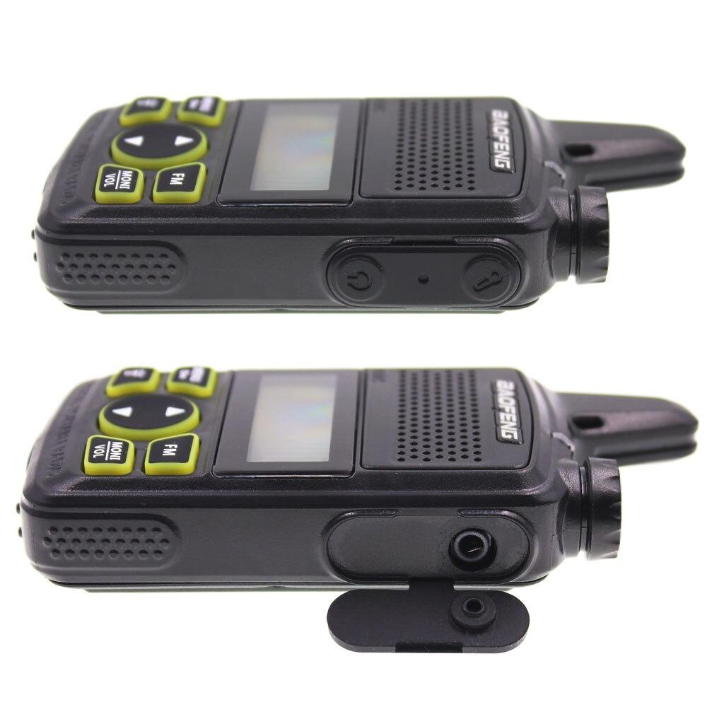 Image 4 - 2 pcs baofeng BF T1 mini portátil rádio em dois sentidos bft1 uhf  400 470 mhz 20ch ham fm transceptor walkie talkie com fone de  ouvidoWalkie-talkie