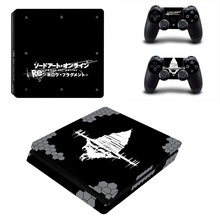Sword Art Online SAO PS4 Slim Skin Sticker Decal Vinyl for Playstation 4 Console and 2 Controllers PS4 Slim Skin Sticker
