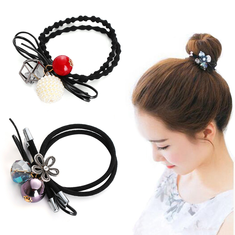 Girl's Accessories Sincere Korean Cherry Red Bowknot Flower Elastic Rubber Hair Band Rope Plastic Hair Clips Hairpin For Women Girls Kids Hair Accessories Girl's Hair Accessories
