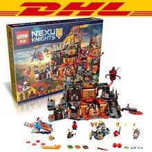 New Arrival LEPIN 14019 1244pcs Nexoe Knights Jestros Vulkanfestung Model Building Kit Minifigure Blocks Toys Compatible Legoe