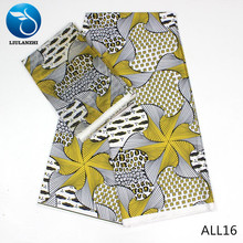 LIULANZHI yellow african fabrics Printing ankara Audel fabric and nigerian chiffon lace for dress 6yards/lot ALL01-ALL25