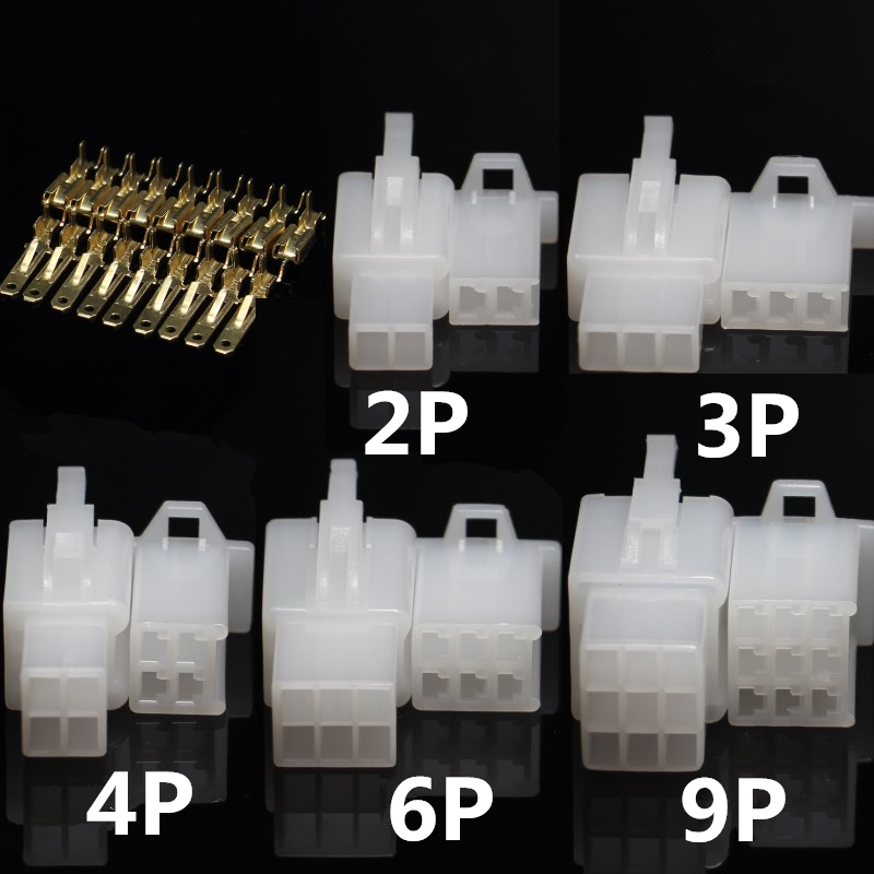 10set 2.8mm 2/3/4/6/9 pin Automotive 2.8 Electrical wire Connector Male Female cable terminal plug Kits Motorcycle ebike car ok 5set lot 2 8mm 2 3 4 6 9 pin automotive 2 8 electrical wire connector male female cable terminal plug kits motorcycle ebike car