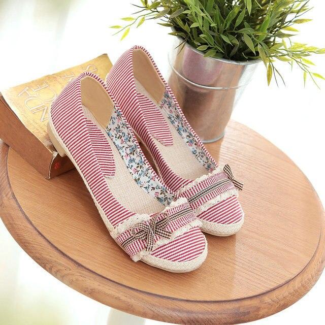 Сладкий стиль женщины квартиры компактный фреш обувь круглый сладкий женщины обувь большие размер 34 - 44