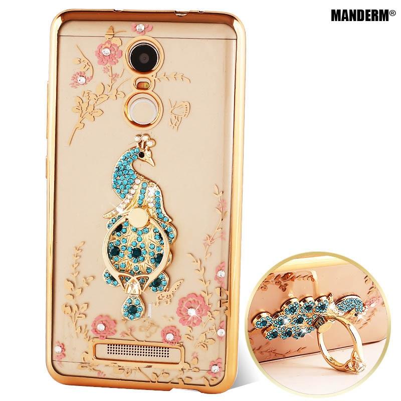 Teléfono redmi note 3 pro de lujo case cover + anillo de dedo girar sostenedor d