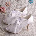 Горячие Продажа Белого Кружева Летние Сапоги, босоножки, На Высоком Каблуке Свадебные Туфли с Открытым Носком Размер 7