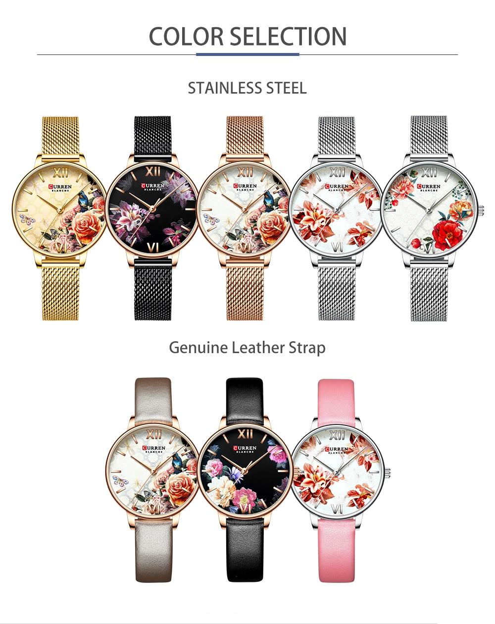 HTB1YQMCeBGE3KVjSZFhq6AkaFXaG CURREN Charming Flower Design Fashion