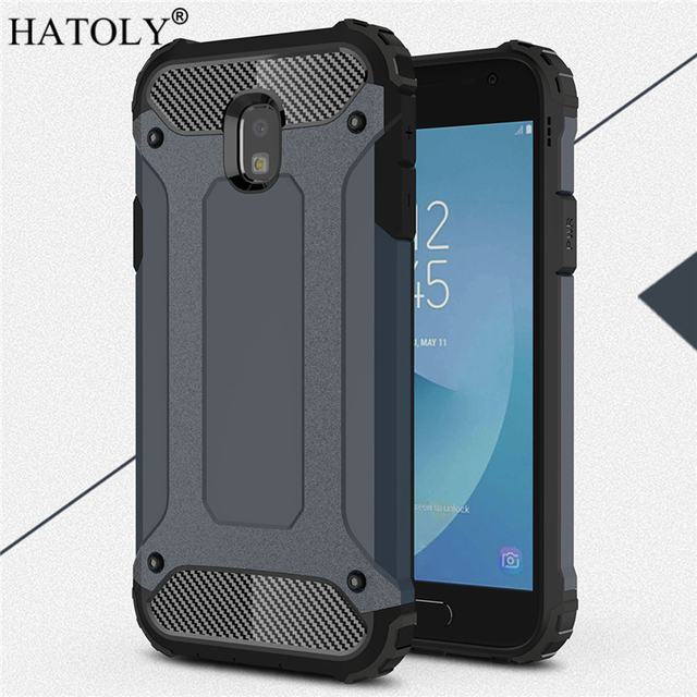 size 40 078a6 0d566 HATOLY For Coque Samsung Galaxy J3 2017 Case J330F/DS Heavy Armor Hard  Tough Cover Silicone Case for Samsung J3 2017 EU Version-in Fitted Cases  from ...