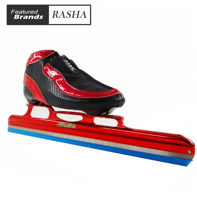 Prix pour Longue piste patin à glace Champion glace de patinage chaussures noir blanc patins à roulettes pour le Hockey shooes chaussures De Glace
