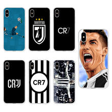 Juventus stella Real Cristiano Ronaldo CR7 TPU Clear Phone Case For iPhone 6G 6s 7 8plus x For iPhone 4 5se 6Plus 7P A073(China)