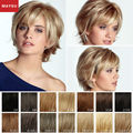 MAYSU Short Human Hair Wigs For Women New Arrival Elegant Blonde Wig Best Brazilian Virgin Hair Wig Free Gift With Purchase