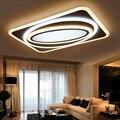 Escurecimento + Controle Remoto Modern Led Luzes de Teto Para Sala de estar Quarto Retângulo Quadrado New Acrílico Conduziu a Lâmpada Do Teto Luminárias