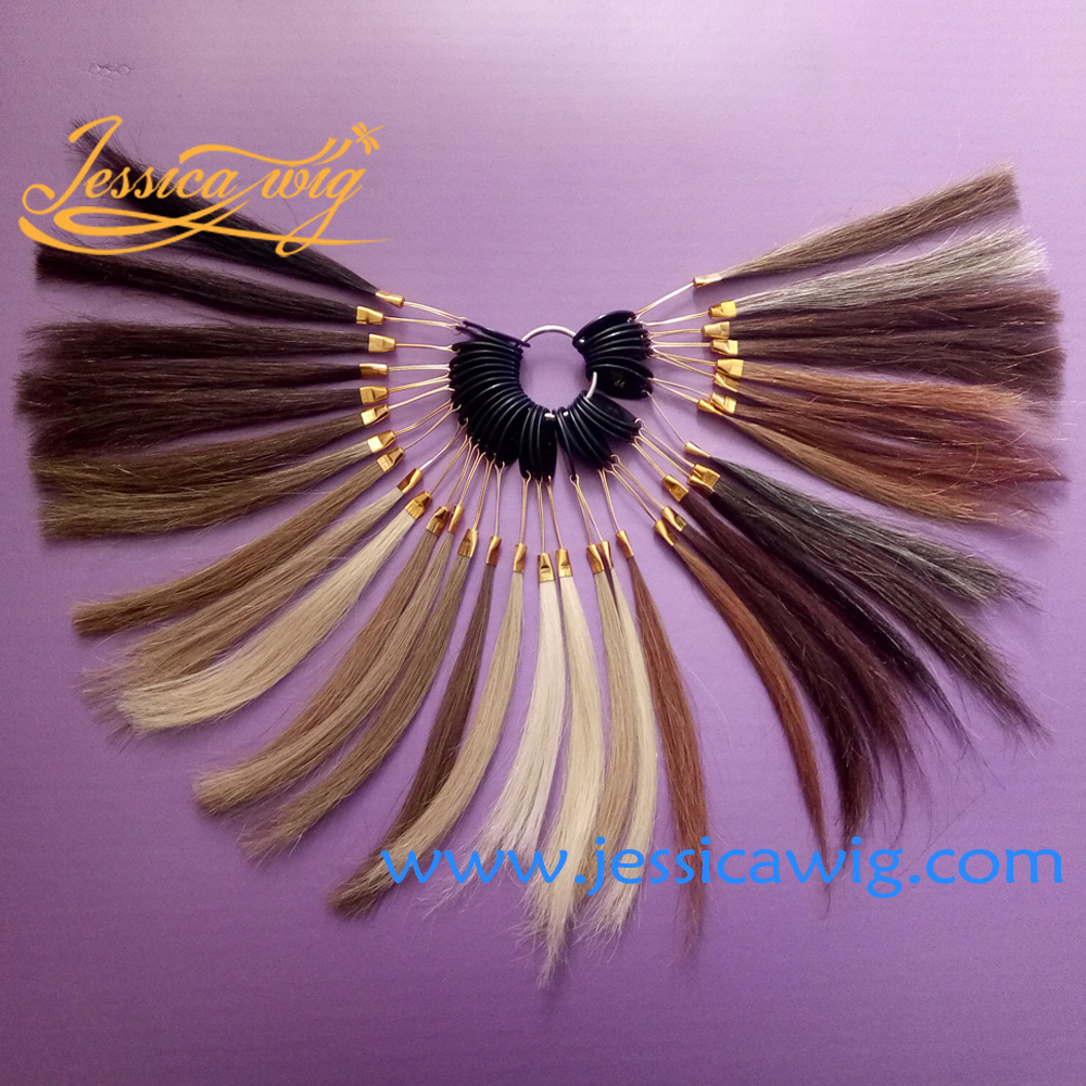 Color chart for wigs - Real Hair Color Chart For Jewish Wig Sheitels And Kosher Wigs Color Ring