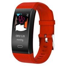 цена на New TF6 smart watch heart rate monitoring IP67 step by step multiple sports bracelet mode information push smart bracelet