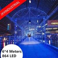 Christmas Net lights led mesh lights 6m*4m 860led Party garden decorative light AC 220v EU Plug 1pcs Free Shipping