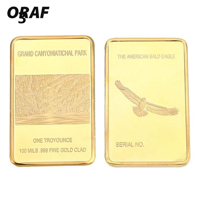 Souvenir Koin Emas Batangan Bar Emas Square 24 K Berlapis Emas