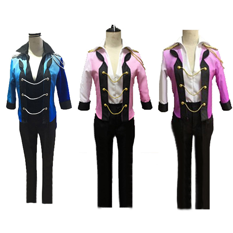 Yuri!!! on Ice Katsuki Yuri  Katsuki cosplay Halloween Cosplay Costume Full Suit with gloves blue,pink and purple 3 color