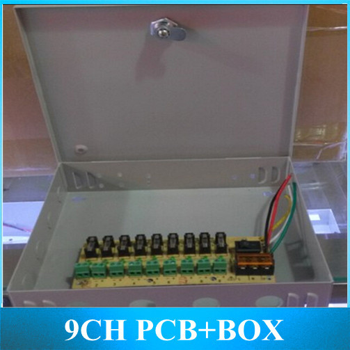 9CH PCB Power Box Metal Sub wiring Monitor Electrical Box For 12V 5A 10A 15A Switching