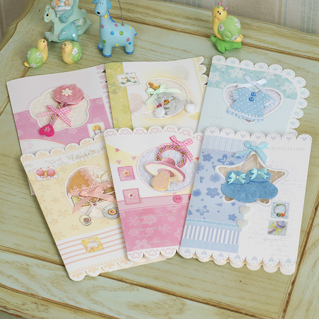 new baby cards for girls/boys gift greeting cards,best handmade baby
