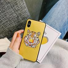 France fashion brand tiger soft phone cover case for iphone X XS MAX XR 8 7 6 6S plus matte silicon leather cases coque fundas цена и фото