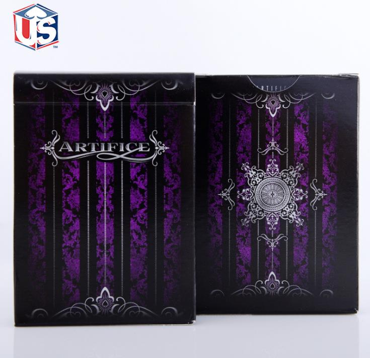 1 deck Purple Artifice Premium Ellusionist Deck Bicycle Playing Cards magia trick props poker deck close up illusion