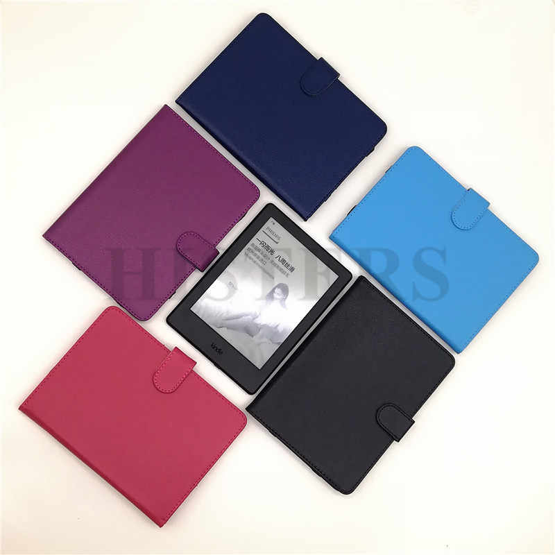 Gratis Nylon Pouch voor Barnes & Noble Nook GlowLight Plus Magnetische PU Leather Case Book Cover
