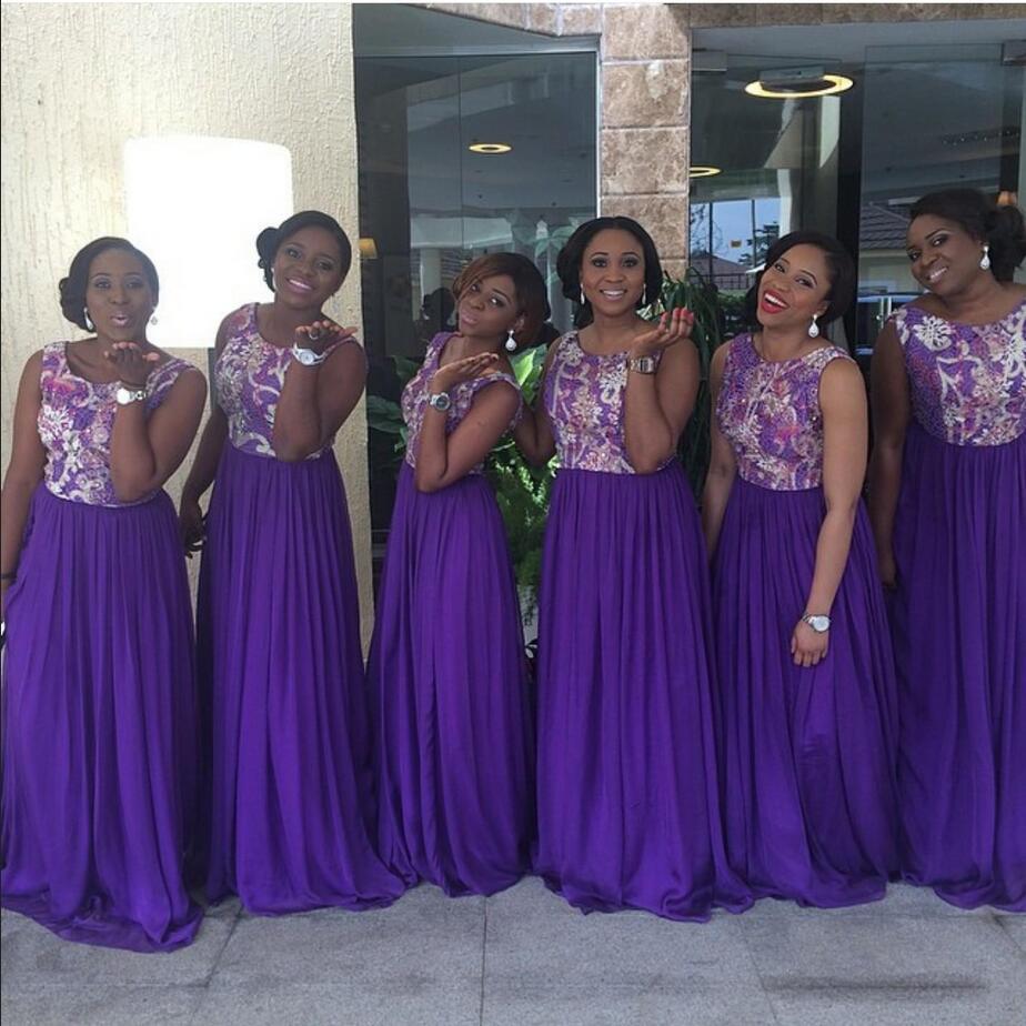 Aliexpress buy 2017 nigerian arabic purple mermaid aliexpress buy 2017 nigerian arabic purple mermaid bridesmaid dresses chiffon scoop long custom made plus size a line lace bridesmaids dresses from ombrellifo Images