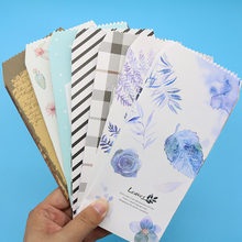 6pcs/ Bag Chinese Style Cute Animal Classic Lattice Classic Black And White Envelope Children'S Gift Stationery (19.5*8.7 cm)