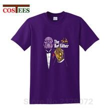 Parody Avengers Infinity War The Bad father Thanos T Shirts men Civil War T-shirt super Titan hero tshirt comics streetwear Tees